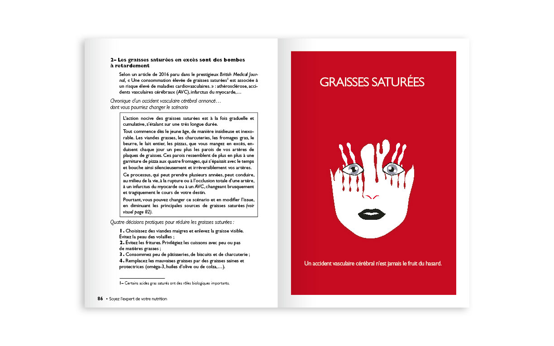 double-page sur les graisses saturées (vectoriel, illustrator)